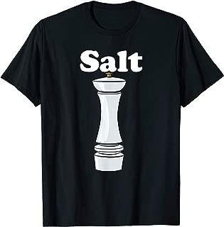 Salt Shaker Salt and Pepper BFF Matching Halloween Costume T-Shirt