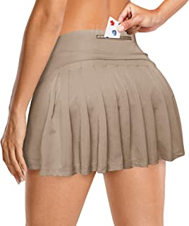 YEOREO Women Tennis Skort Active Pleated Skirts with Pocket for Running Golf