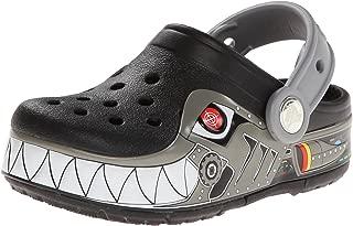 Crocs Kids Robo Shark PS Light-up Clog (Toddler/Little Kid),Black/Silver,8 M US Toddler