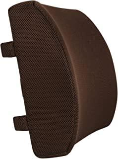 WEVB Apoyo lumbar de espuma viscoelástica para apoyo lumbar masajeador de espalda, cojín lumbar para asiento de coche, silla para el hogar, oficina, alivio del dolor (1 pieza de café)