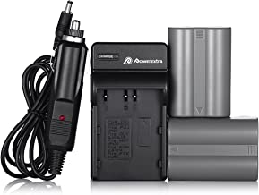 EN-EL3E Powerextra 2X EN-EL3E Battery & Charger Compatible with Nikon D50, D70, D70s, D80, D90, D100, D200, D300, D300S, D700 D900 Digital Cameras (Free Car Charger Available)