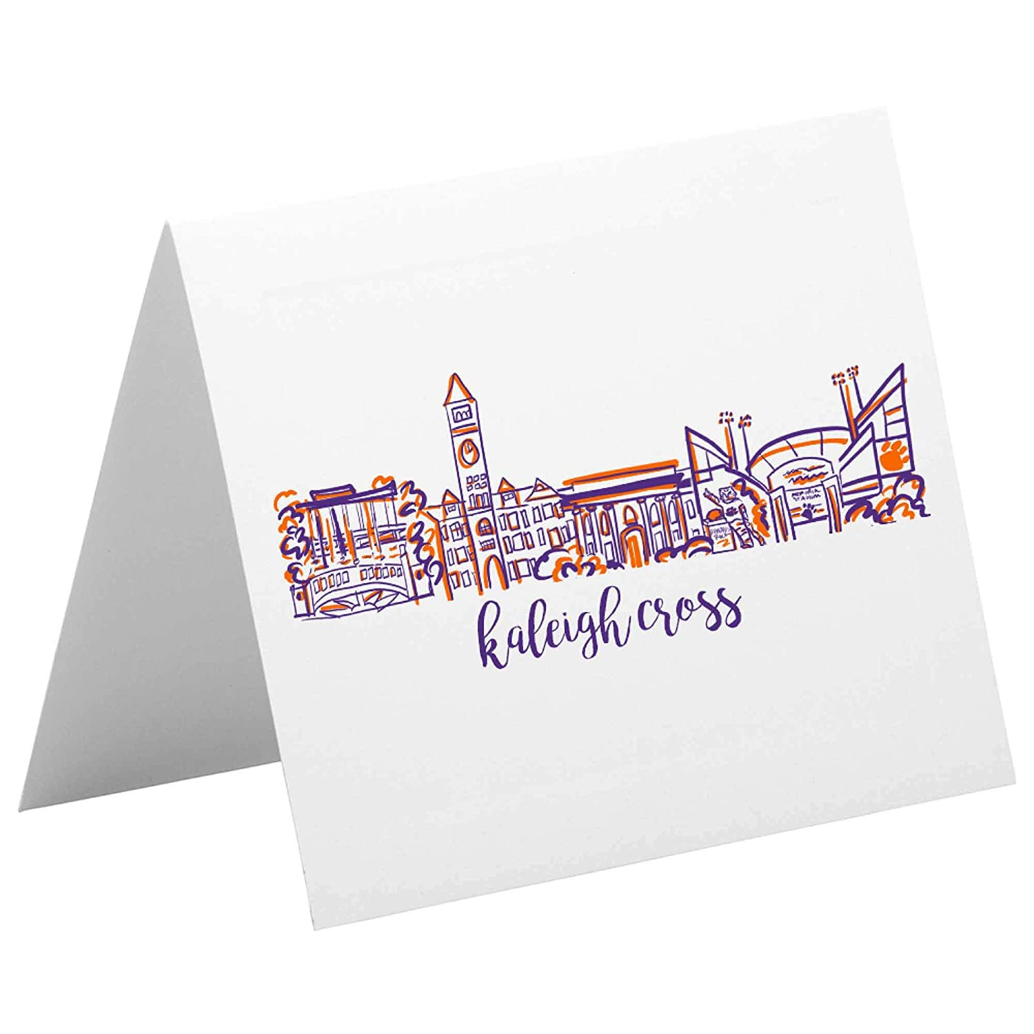 Personalized Now free shipping Notecard Stationery Set Al sold out. University Campus {Clemson