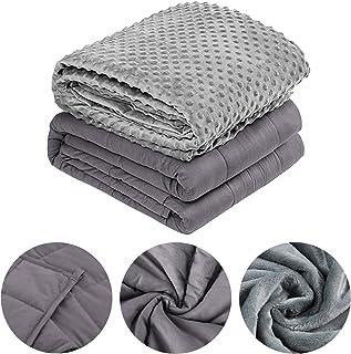 wolketon Gewichtsdecke mit Bezug Therapiedecke Weighted Blanket Standard Beschwerte Decke Mikrofiber, Füllmaterial Premium Glaskügelchen, Schlaftiefe zu verbessern dukelgrau, 104 x 153CM-4,5KG