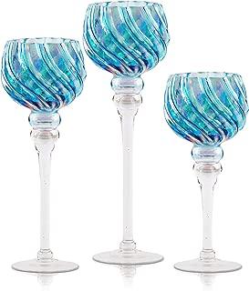 3 piece glass hurricane set