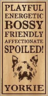 "Imagine This Yorkie""Spoiled!"" Wood Sign"