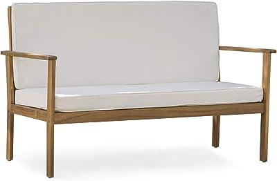Amazon.com : Tidyard Outdoor Wood Garden L-Shape Corner Sofa ...