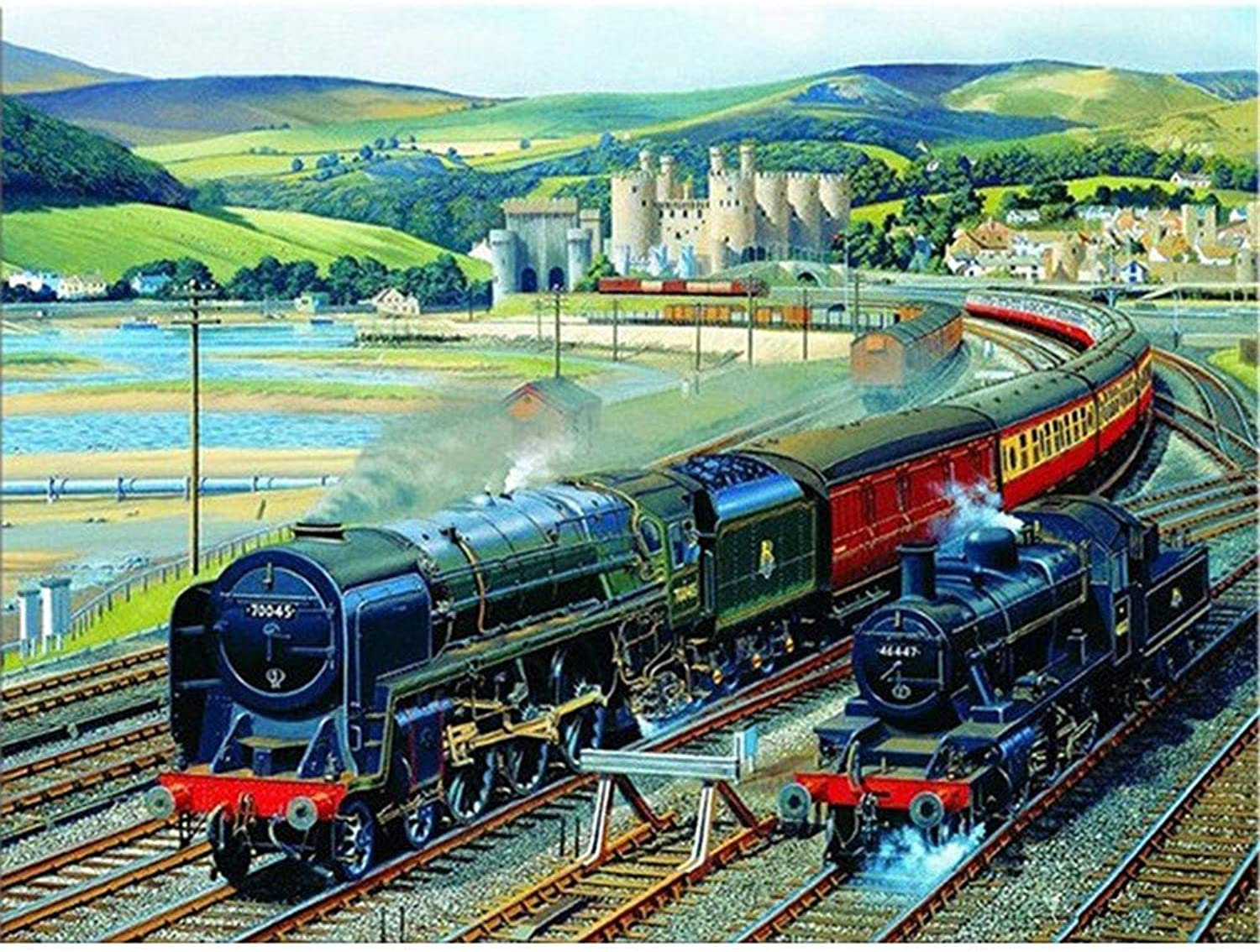Crafts Paintworks Paint By Number Kit, Black Train