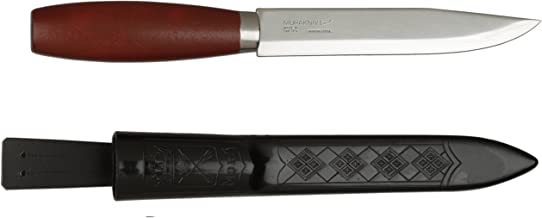 Morakniv Classic No 3 Wood Handle Utility Knife with Carbon Steel Blade, 6-Inch