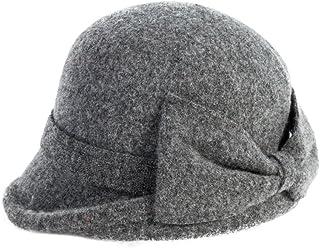 Siggi Wool 1920s Retro Church Hats Women's Fedora Hat Fedorahüte Classic Bowler Hat
