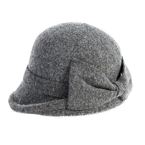SIGGI Womens 1920s Vintage Wool Felt Cloche Bucket Bowler Hat Winter  Crushable 3ea3390f8b0