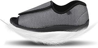 IBLUELOVER Chaussons Diabétiques pour Hommes Femmes Pantoufle en Mousse Viscoélastique Chaussures Réglable Fermeture Scrat...