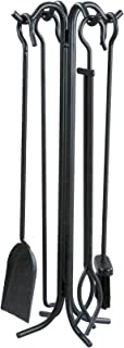 Panacea 15001 Wrought Iron Fireplace Toolset, Black, Pack of 5