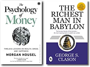 The Psychology of Money + The Richest Man in Babylon (2 Books combo with Free Customized Bookmark)