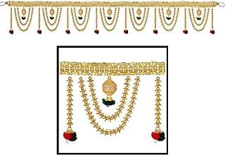 Amba Handicraft Door Hanging Toran Window Valance Dream Catcher Home Décor Interior Pooja bandanwaar Diwali Gift Festival Colorful Indian Handicraft Love.TORAN 249