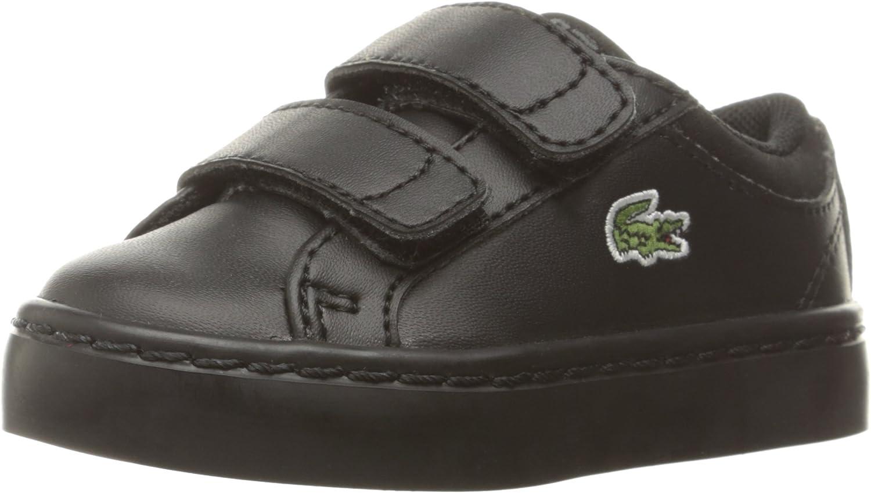 Lacoste Straightset Lace Spc Blk Sneaker (Little Kid)