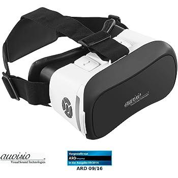 auvisio 3D Brille: Virtual-Reality-Brille mit Bluetooth, Magnetschalter und 42-mm-Linsen (VR Brille Handy)