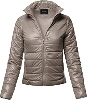 ce948211a33 Made by Emma Women s Lightweight Solid Basic Outdoor Sports Quilted Puffer  Jacket