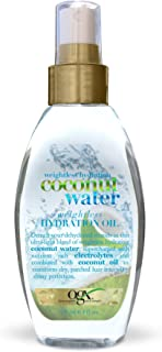 OGX Weightless Hydration Coconut Water Oil, 4 Ounce