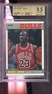 1987-88 Fleer #59 Michael Jordan Bulls GEM MINT BGS 9.5 Graded Basketball Card