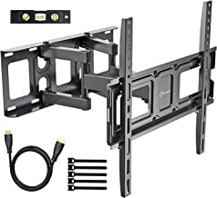 EVERVIEW TV Wall Mount Bracket fits to Most 32-55 inch LED,LCD,OLED Flat Panel&Curved TVs, Full Motion Swivel Dual Articulating Arms Extension Tilt Rotation, Max VESA 400X400mm and Holds up to 99lbs