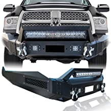 Hunter Dodge Black Textured Front Bumper Black Texture with 4×18W and 1× 144W LED Lights for 13-18 Dodge RAM 1500