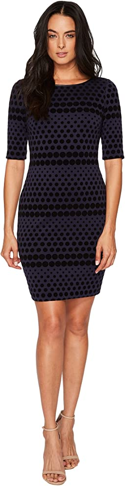 Flocket Velvet Dotted Sheath