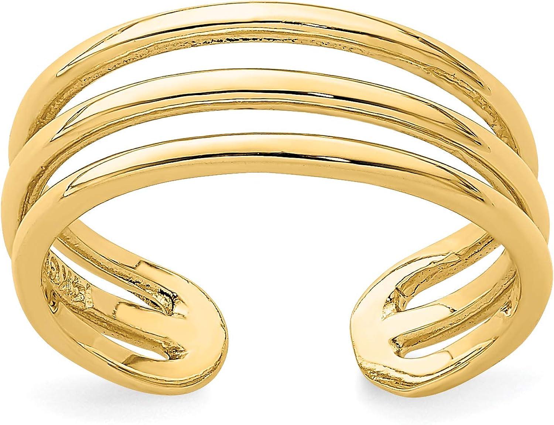 14k Yellow Gold Double Split Shank Toe Ring