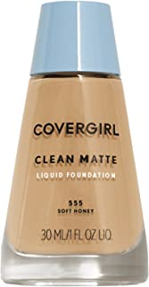 COVERGIRL Clean Matte Liquid Foundation Soft Honey, 1 oz (packaging may vary)