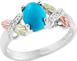 on Silver Turquoise and Diamond Ring