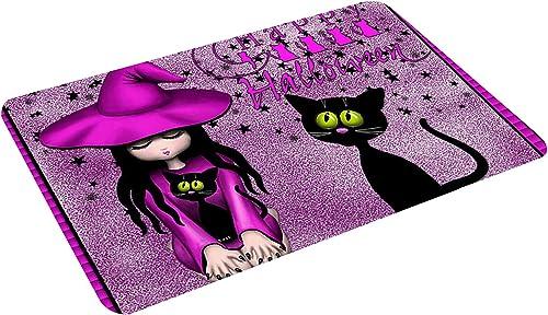 wholesale RiamxwR Halloween Door Mat: Welcome sale Home Doormat Halloween Front Door Decorations online Doormat Anti-Slip Indoor Outdoor Carpet, 15.7X23.6 Inches (Style D) online sale