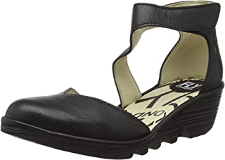 Womens Pats Mousse Closed Toe Cut Out Wedge Heel Leather Shoe