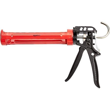 Amazon Basics Pistolet à calfeutrer robuste pour mastic - 310ml - Rapport de poussée 12:1, manche en aluminium