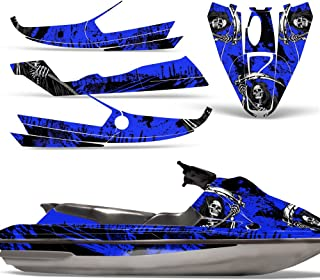 Bombardier SeaDoo GTS 92-97 Decal Graphic Kit Jet Ski Wrap Jetski Sea Doo REAPER BLUE