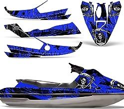 Bombardier SeaDoo GTS 92-97 Decal Graphic Kit Jet Ski Wrap Jetski Sea Doo REAPER BLUE