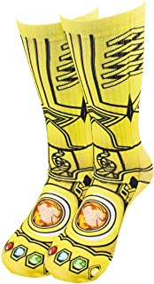 Avengers Thanos Infinity War Gauntlet Sublimated Athletic Socks