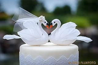 White Swan Cake Topper: