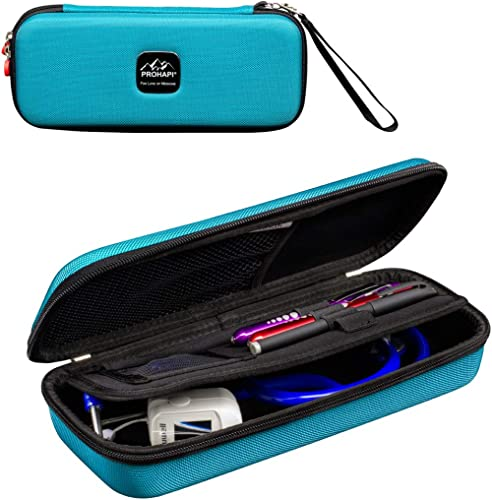 PROHAPI Hard Stethoscope Case, Large Stethoscope Carrying Case with ID Slot, Compatible with 3M Littmann/ADC/Omron/MD...