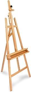 Artina Chevalet peinture Barcelona - Trépied peinture en bois de hêtre - Double support - Hauteur et inclinaison réglable...