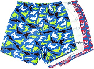 Men's Colorful Hammerhead Shark Hell Yeah Print Boxer Shorts Pack of 3