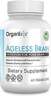Organixx - Ageless Brain - Organically Grown Nootropic Brain Supplement - Enhanced Memory, Focus, Clarity (30 Servings)