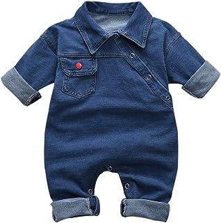 Bebé Recién Nacido Cuello Vuelto Mameluco Cool Boys Jeans Mono Mono para Bebé Niño