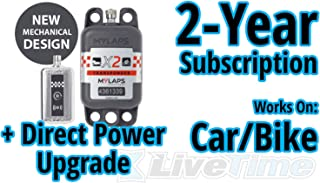 MyLaps X2 Transponder, Direct Power, for Car/Bike, includes 2-Year Subscription