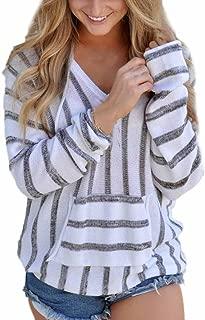 Womens Hoodie, Striped Long Sleeve Jumper Sweater Ladies Loose Casual Knitwear Tops