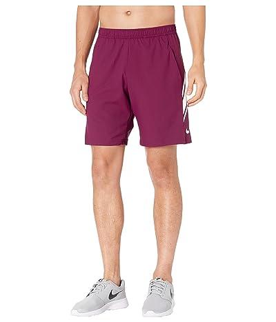Nike NikeCourt Dry Shorts 9 (Bordeaux/White/White) Men