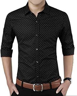 Super weston Cotton Polka Print Dotted Shirts for Men for Formal Use,100% Cotton Shirts,Office Wear Shirts, M=38,L=40,XL=42
