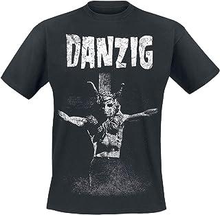 Danzig T Shirt Skullman Distressed Band Logo 新しい 公式 メンズ Size M