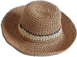 Asdfnfa Sun Hat Women's Straw Hat Summer UV Folding Beach Hat Big Hat Fishing Cap (Color : Brown)