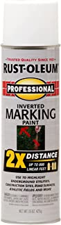 Rust-Oleum 266593 Professional 2X Distance Inverted Marking Spray Paint, 15 oz, White