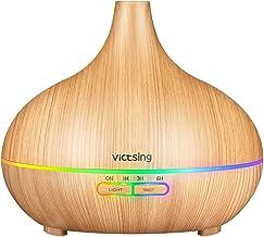 VicTsing 500mL Aroma Diffuser, 23dB Ultra Leise Luftbefeuchter Ultraschall, bpa-Free Öle..