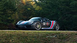 Porsche 918 Spyder Weissach Package Martini Racing Car Poster Print #4 (24x36 Inches)